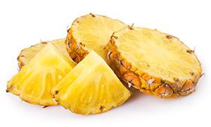 香甜可口菠萝切块特写摄影高清图片