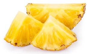 甜滋滋的菠萝切块特写摄影高清图片
