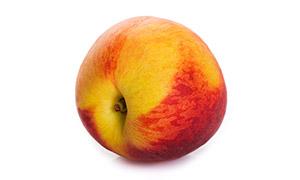 一颗大又圆的桃子特写摄影高清图片