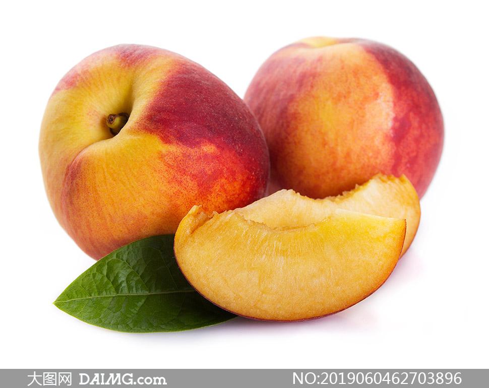 鲜甜口感美味桃子特写摄影高清图片