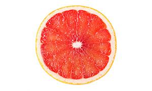 红色西柚切面近景特写摄影高清图片