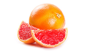 鲜嫩多汁的红色柚子摄影高清图片