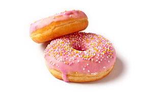 散发着少女心的甜甜圈摄影高清图片