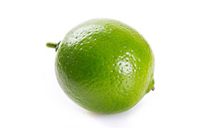 一个圆圆的青柠檬特写摄影高清图片