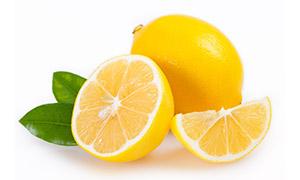 浓郁多汁的黄柠檬特写摄影高清图片