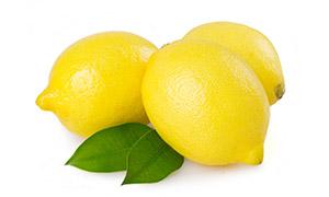 圆滚滚的几个柠檬特写摄影高清图片