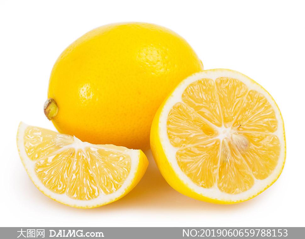 黄色精选品质柠檬特写摄影高清图片