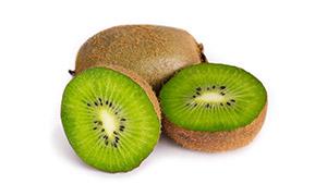 新鲜多汁的绿心猕猴桃摄影高清图片