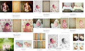 新生儿照片复古怀旧艺术效果PS动作