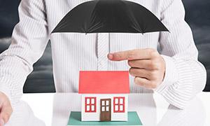 房屋財產保險主題創意攝影高清圖片