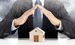 為房子遮風擋雨的雙手創意高清圖片