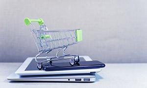 移动端的网络购物主题创意高清图片