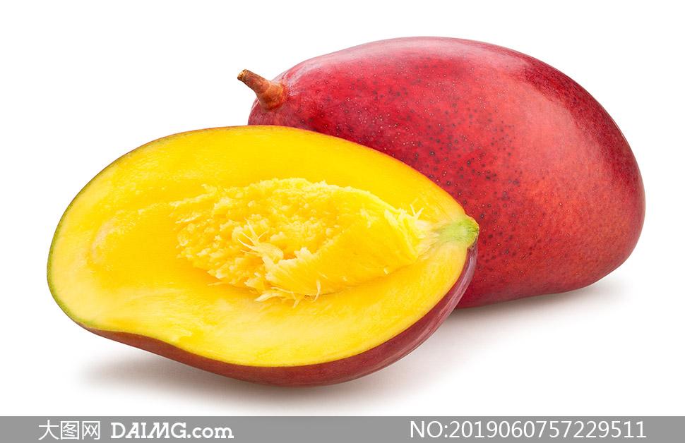 红色外皮果香四溢芒果摄影高清图片