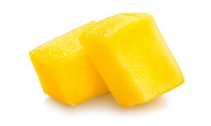 切成了块状的美味芒果摄影高清图片