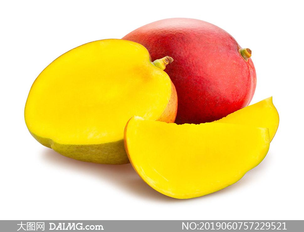 散发着果香的芒果特写摄影高清图片