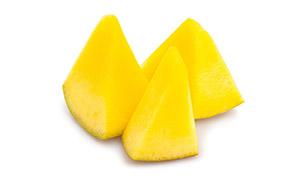 香甜多汁的芒果块特写摄影高清图片