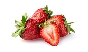 新鮮香甜草莓水果特寫攝影高清圖片