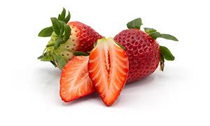 香甜水靈靈的草莓特寫攝影高清圖片