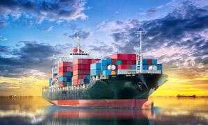 天空云彩与集装箱货轮摄影 澳门线上必赢赌场