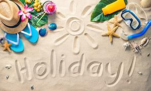 夏天旅行假日物品特写摄影高清图片