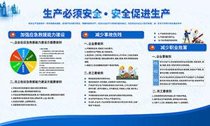 企业安全生产看板宣传栏设计PSD素材
