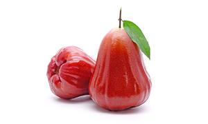 新鮮紅潤蓮霧水果特寫攝影高清圖片