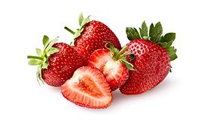 颜色深红色的优质草莓摄影高清图片
