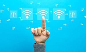 触摸点击无线信号图标手势创意图片