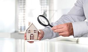 房屋质量检测主题创意摄影高清图片