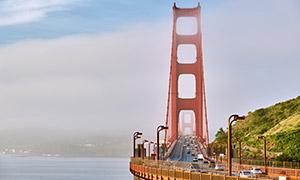 旧金山的金门大桥风光摄影高清图片
