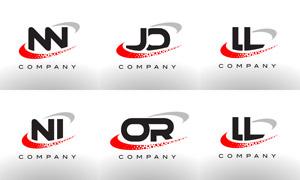 字母组合创意标志设计矢量素材集V01