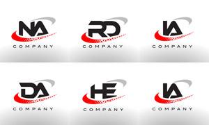 字母组合创意标志设计矢量素材集V03