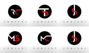 字母组合创意标志设计矢量素材集V04