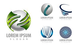 立体质感球体元素标志设计矢量素材