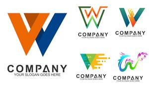五彩缤纷字母创意标志设计矢量素材