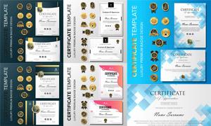 多种多样的授权书与证书等素材V114