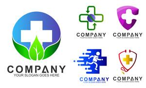 十字元素健康医疗主题标志矢量素材