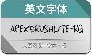 ApexBrushLite-Regular(英文字体)