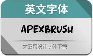 ApexBrush-Regular(英文字体)