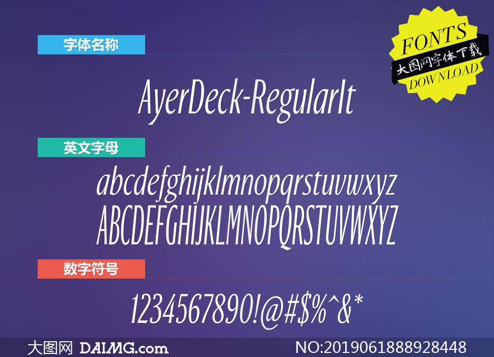 AyerDeck-RegularItalic(英文字體)