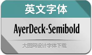 AyerDeck-Semibold(英文字体)
