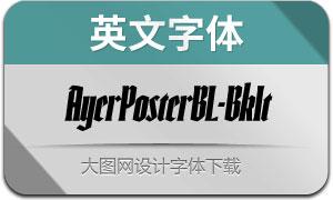 AyerPosterBL-BkIt(英文字体)