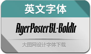 AyerPosterBL-BdIt(英文字体)