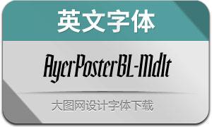 AyerPosterBL-MdIt(英文字体)