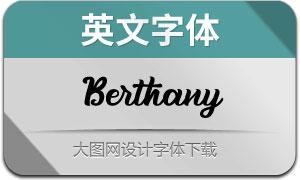 Berthany(英文字体)