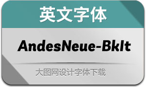 AndesNeue-BlackIt(英文字体)
