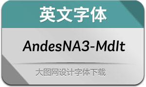 AndesNeueAlt3-MediumIt(英文字体)