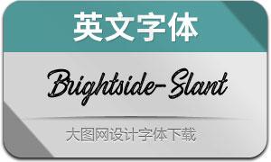 Brightside-Slant(英文字体)
