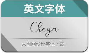 Cheya(英文字体)