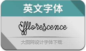 Efflorescence(英文字体)
